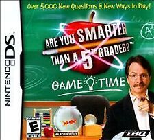 NEW Nintendo DS Are You Smarter Than A 5th Grader ? Game Time - Free Shipping !