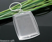 50 Key Chains&Key Rings W/Transparent Picture Frames