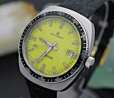 Vintage BUCHERER Archimedes Automatic Stainless Steel 37mm Diver's Watch