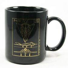 Vintage 1992 Skunk Works Lockheed Stealth F-117A Black Coffee Mug