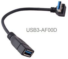 8in USB 3.0 A-Male Down-Angle to A-Female Short Extension Cable, USB3-AF00D