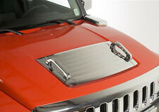 06-10 Hummer H3 Chrome ABS Hood Deck Vent Panel Handle Cover Trim Moulding Bezel