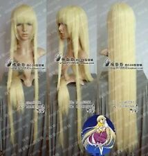 Chobits Cosplay Long Light Blonde Straight Wigs 100cm