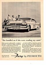 1957 PLYMOUTH FURY V-800 ENGINE  ~  GREAT ORIGINAL PRINT AD