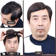 Men Toupee hairpiece 100% Real natural human hair  11*11cm full hand knot Tied