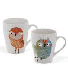 Set of 4 Hootie Owl Bone China Mugs Tea Coffee Cups