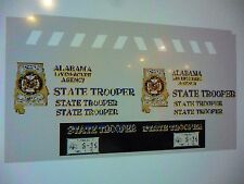 Alabama State Trooper New Patrol Car Decals 1:24   FREE US SHIPPING