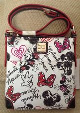 NWT DISNEY DOONEY & BOURKE LETTER CARRIER CROSSBODY MINNIE MOUSE HEARTS & BOWS