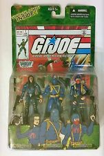 2004 GI Joe ARAH Cobra Commander, Trooper & Baroness Comic 3 Pack MOC Hasbro
