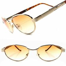 Old School Classic Vintage Retro Mens Stylish Gold Rectangle Hipster Sunglasses