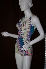 Vintage 60s Rose Marie Raid Psychedelic Swimsuit