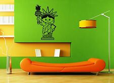Wall Stickers Vinyl Decal Statue of Liberty Cartoon For Kids New York USA ig1595