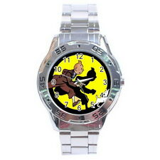 Tin Tin Stainless Steel Analogue Men's Watch For Gift NEW