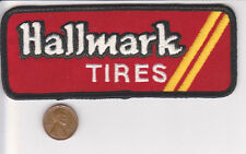 Vtg Hallmark Tires Patch-Red-Garage Road Auto Wheel Car Truck Van-Glastonbury CT