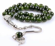 Jade Stone Islamic Prayer Worry  Beads Misbaha Tesbih Tasbih Tasbeeh Gemstone