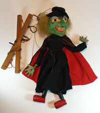CHARACTER BOXED VINTAGE UGLY WITCH PELHAM PUPPET 1960s BLACK HAT & RED BOOTS
