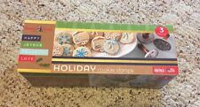 Nordic Ware Holiday Cast Cookie Stamps, Set of 3 New In Package