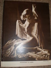 Printed photo nude woman with veil 1950 ref K