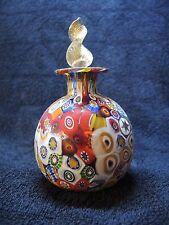 Murano Glas, Parfümflasche, 60 Jahre, gemarkert, Millefiori-Murrinen