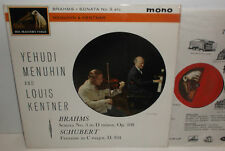 ALP 1907 Brahms Sonata For Violin & Piano Schubert Fantasie Menuhin Kentner R/G