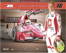 2016 SPENCER PIGOT signed ROOKIE INDIANAPOLIS 500 PHOTO CARD POSTCARD INDY CAR