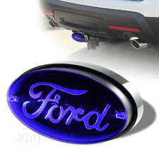 "Ford Logo Trailer Tow Hitch Cover LED Brake Light 1.25"" / 2"" Receiver 4 Prong"