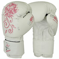 Boxing Gloves Kids Junior Youth MMA Sparring Training Kick Boxing Muay Thai Whit