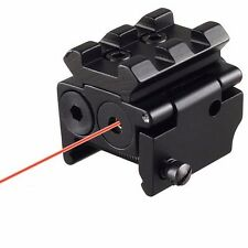 Tactical Compact Pistol Low Profile Rifle Red Laser Dot Sight Scope w/Rail Mount
