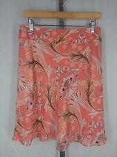 Ann Taylor Loft Floral Skirt Size 6 Linen Silk Blend NEW