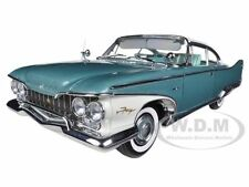 1960 PLYMOUTH FURY HARD TOP TURQUOISE METALLIC/OYSTER WHITE 1/18 BY SUNSTAR 5421