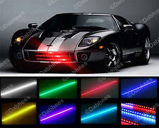 7 couleur 48 LED RVB imperméable knight rider led lumière scanner-flash strobe kit