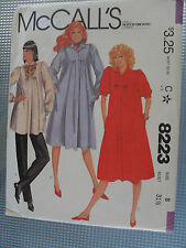 Vtg 1982 Mc Call's Sewing Pattern #8223 Misses Maternity Dress,top,pants Size 8