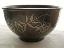 Gorgeous STERLING Bronze SIGNED Arts Crafts HEINTZ ART METAL SHOP Bowl with WEAR