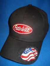 PETERBILT HAT :      U.S.A. Flag truckers cap    *Free shipping in the U.S.A.*