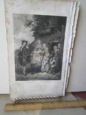 Vintage Print,WHICH IS THE MOTHER,Black+White Engraving