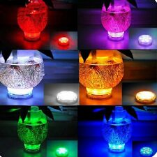 LED COLOR CHANGE SUBMERSIBLE  Light Base Vase Remote Control 10TriColor LED's