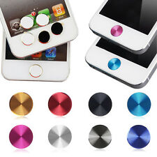 5pcs Aluminium Metal Round Home Button Sticker For iPhone 4S 5s 5c ipad  Latest