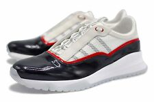 Louis Vuitton VNR Americas Cup Sneaker Shoes Patent Leather Monogram Size 10