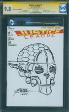 CGC SS 9.8 Justice League #1 variant George Perez Super Powers Brainiac sketch