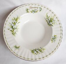 Royal Albert Flower of The Month January Bowl 1st Quality Rimmed Soup Bowl