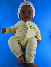 "Zapf Creations 2000 Baby Chou Chou Black African American Doll 19"" Germany Brown"
