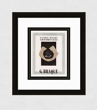 """BRAQUE Antique Gallery Maeght Exhibition Poster """"Braque"""" SIGNED Framed COA"""