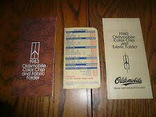 1982 Oldsmobile Selling Facts Books - 1980 & 1983 Color Trim & Fabric Folders
