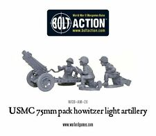 WARLORD BOLT ACTION USMC United States Marine Corp 75mm Pack OBICE