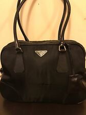 PRADA LEATHER & NYLON- NERO-BLACK-Bowling /Doctor Bag-RARE