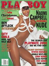 Playboy Magazine December 1999 Naomi Campbell Nude / Ben Affleck Interview