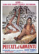 PECCATI DI GIOVENTU' MANIFESTO CINEMA GLORIA GUIDA EROTICO SEXY 1975 POSTER 2F