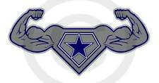 """Dallas Strength Texas Power Sticker Lone Star Cowboy Up Decal Size Small 6""""x3"""""""