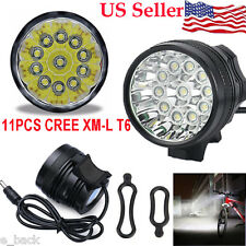 28000LM 11 x CREE XM-L T6 LED 8 x 18650 Cycling Waterproof Lamp Light Torch HOT