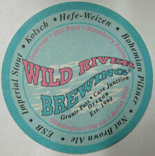 WILD RIVER BREWING COMPANY Beer COASTER, Mat, Grants Pass, OREGON in about 1999
